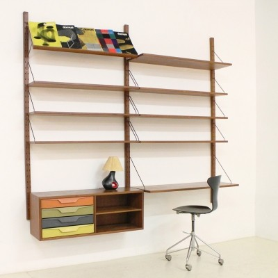 Danish Coloured Shelving System by Sven Ellekaer for Albert Hansen