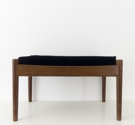 Small bench or pouf by Grete Jalk for Poul Jeppesen Mobelfabrik, 1956