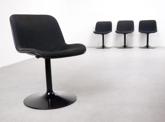 Set of 4 Houtoku 'Spirit' swivel chairs by Hajime Oonishi for Artifort