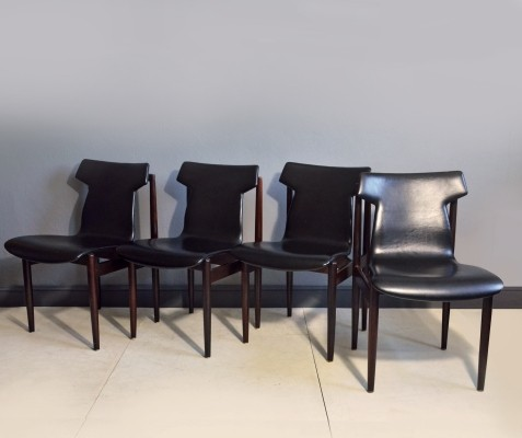 Set of 4 IK dinner chairs by Inger Klingenberg for Fristho, 1960s