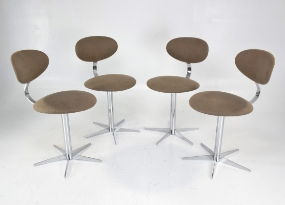 Set of Four Swivel Chairs, France 1970s