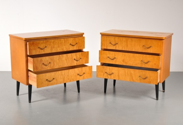Pair of vintage chest of drawers, 1950s