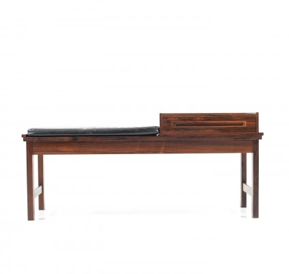 Early Danish Bench in Rosewood by Johannes Andersen, 1960s