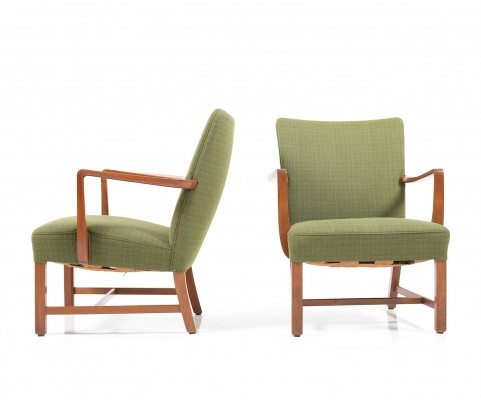 Set of early Danish Lounge Chairs by Jacob Kjaer, 1930s-1940s