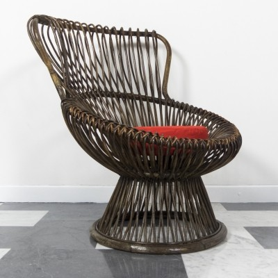 'Margherita' wicker lounge chair by Franco Albini for Bonacina, 1951