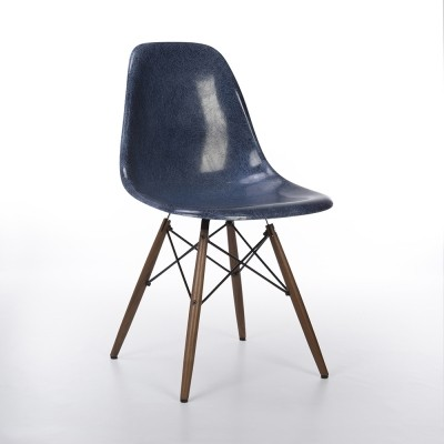 Original Herman Miller Deep Blue Eames DSW Dining Side Chair