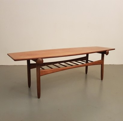 Mid-Century Danish design teak reversible coffee table