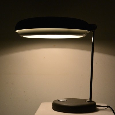 Black & Chrome Desk Lamp from Hillebrand, 1960s