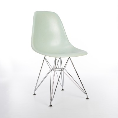 Original Herman Miller Robin's Egg Eames DSW Dining Side Chair