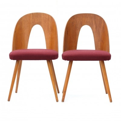 Pair of Type 30-218 dinner chairs by Antonin Šuman for Tatra Nabytok NP, 1960s