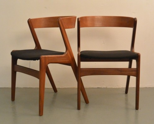 Set of 2 Kai Kristiansen 'Fire' chairs for Sochu Andersen, 1950s
