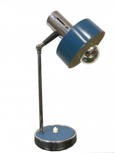 Stilux table lamp in blue & chrome, 1960s