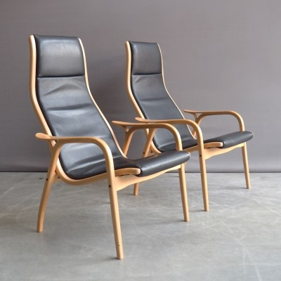 Pair of Lamino lounge chairs by Yngve Ekström for AB Sweden, 1980s