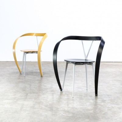 Pair of Andrea Branzi 'Revers' chairs for Cassina