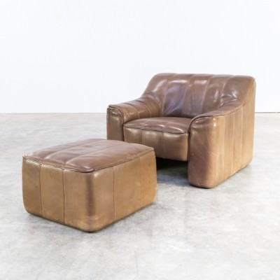 De Sede DS44 chair & ottoman with adjustable seating, 1970s