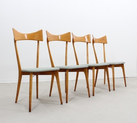 Set of 4 Ico Parisi dinner chairs, 1950s