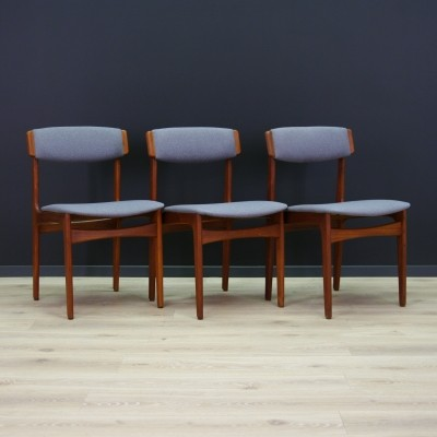 Set of 3 dinner chairs by N. & K. Bundgaard Rasmussen for Thorsø Stolefabrik, 1960s