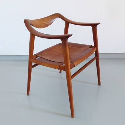 Rare Radstad & Relling Bambi Armchair by Gustav Bahus, Norway 1954