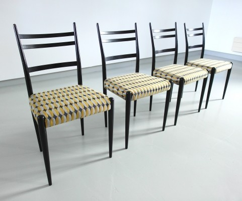 Set of 4 Italian Dining Chairs, 1950s