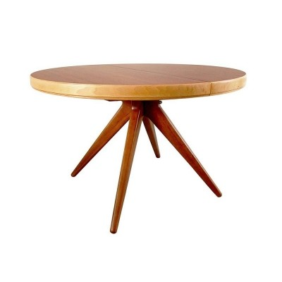 Extendible dining Table by David Rosén for Nordiska Kompaniet, Sweden 1952