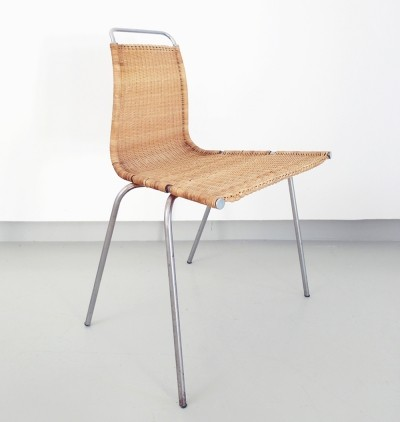Poul Kaerholm's first dining chair, PK1 for E Kold Christensen, Denmark 1955