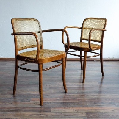 2 x Ton N. P. Bystřice pod Hostýnem dinner chair, 1960s