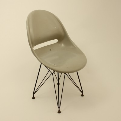 Fibreglass shell chair by Miroslav Navratil for Vertex