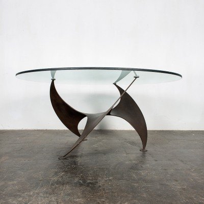 Bronze propeller coffee table by Knut Hesterberg