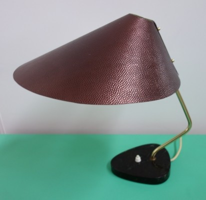 Metal lamp from the DDR with black marble base