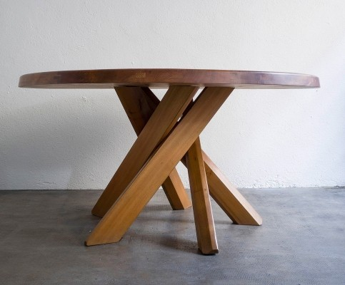 T21 dining table by Pierre Chapo, 1960s