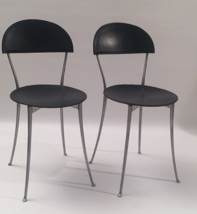 2 x Tonietta dining chair by Enzo Mari for Zanotta, 1980s