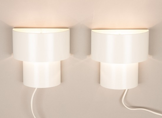 Pair of Danish 2 tiered sconces, 1970s