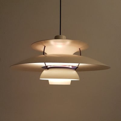 White PH5 pendant by Poul Henningsen for Louis Poulsen, 1950s
