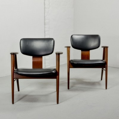 Pair of FT14 Lounge Chairs by Cees Braakman for Pastoe, 1950s