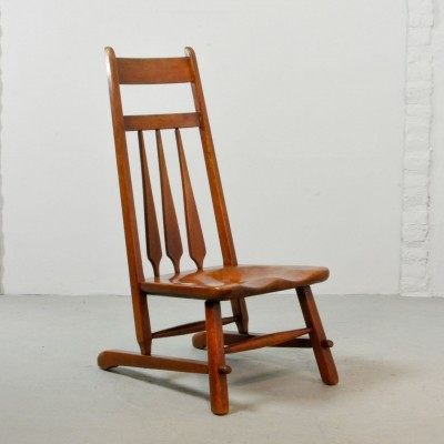 Solid Maple Cushman Vermont Side Chair by Herman de Vries