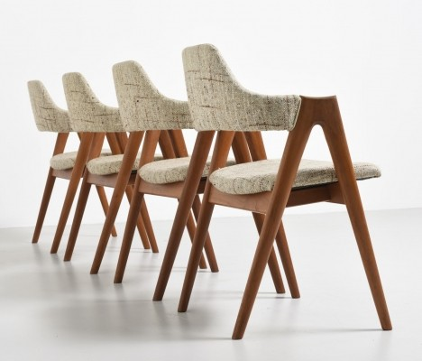 Set of 4 Compas dinner chairs by Kai Kristiansen for Schou Andersen SVA Møbler, 1950s