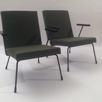 2 x model 1407 arm chair by Wim Rietveld & André Cordemeyer for Gispen, 1960s