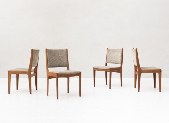 Set of 4 Solid teak frame dinner chairs by Imha, 1960s