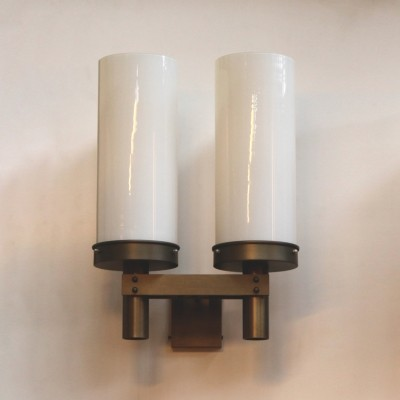 Gispen double armed wall sconce in bronze, 1920s