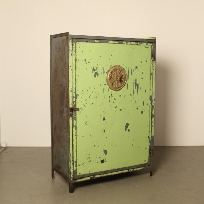 Factory cabinet with antique ventilation grille