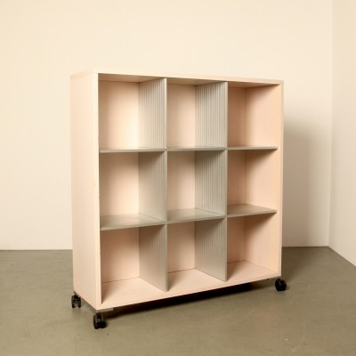 Vitra bookcase / room divider on wheels, 1980s