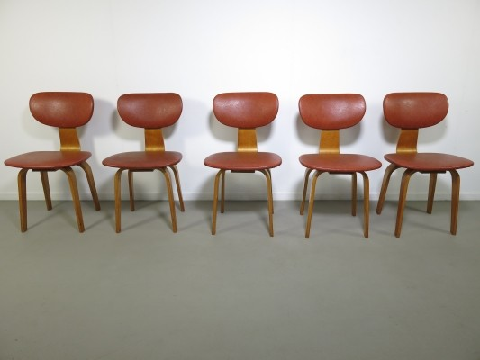 Set of 5 SB02 dining chairs by Cees Braakman for Pastoe, 1950s