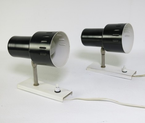 Pair of Anvia Almelo wall lamps, 1960s