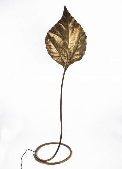 Rhubarb Leaf floor lamp by Tommaso Barbi, 1970s