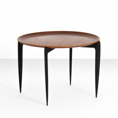 Circular tray table by H. Engholm & S.A. Willumsen for Fritz Hansen, Denmark