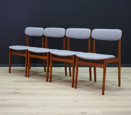 Set of 4 dinner chairs by N. & K. Bundgaard Rasmussen for Thorsø Stolefabrik, 1960s