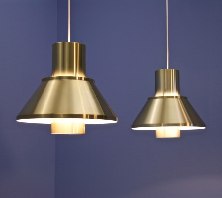 Pair of Life hanging lamps by Jo Hammerborg for Fog & Mørup, 1960s