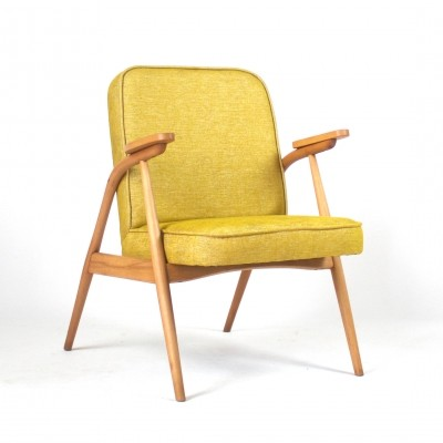 Ochre arm chair, 1960s
