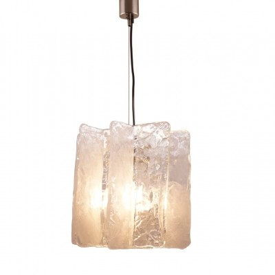 Ice Glass Ceiling Lamp made by Mazzega