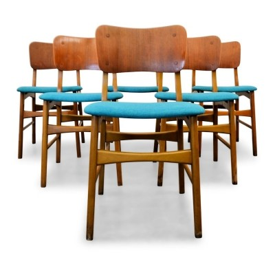 Set of 6 vintage Danish Boltinge dining chairs